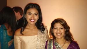 Ms America Nina Davuluri and my wife, Priti Jain